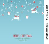 merry christmas holiday... | Shutterstock .eps vector #504121585