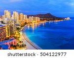 honolulu  hawaii. skyline of...   Shutterstock . vector #504122977