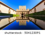 Alhambra Of Granada  Spain.