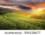 doi mea sa long at sunset ... | Shutterstock . vector #504128677