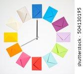 twelve envelopes isolated on...   Shutterstock . vector #504130195