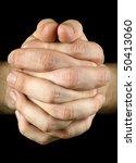 Praying Hands On Black...