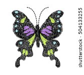 butterfly design for clothing.... | Shutterstock .eps vector #504133255