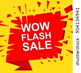 big sale poster with wow flash... | Shutterstock .eps vector #504134941