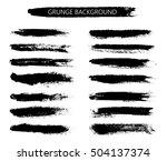 hand painted brush strokes...   Shutterstock .eps vector #504137374