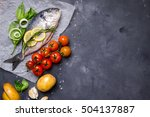 Raw Fish With Fresh Ingredients ...