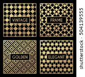 golden vintage pattern on black ... | Shutterstock .eps vector #504139555
