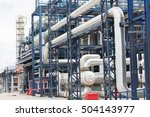 pipelines and destillation... | Shutterstock . vector #504143977