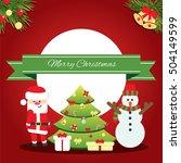 merry christmas concept banner... | Shutterstock .eps vector #504149599
