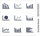 set of graphs  diagrams and... | Shutterstock .eps vector #504155065