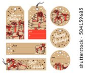 collection of gift tags  badges ... | Shutterstock .eps vector #504159685