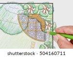 landscape architect design... | Shutterstock . vector #504160711