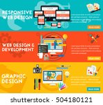 graphic design   responsive... | Shutterstock .eps vector #504180121
