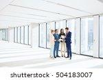 businessmen and businesswomen... | Shutterstock . vector #504183007