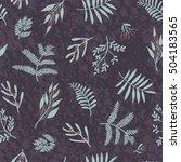 trendy beautiful floral... | Shutterstock .eps vector #504183565