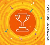 vector cup. thin line victory... | Shutterstock .eps vector #504188659