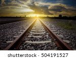 railroad for transportation... | Shutterstock . vector #504191527