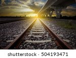 railroad for transportation and ... | Shutterstock . vector #504193471