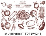 vegetables collection  hand... | Shutterstock .eps vector #504194245