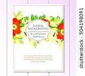 vintage delicate invitation...   Shutterstock . vector #504198091