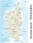 road map of the french... | Shutterstock .eps vector #504201841