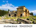 hierapolis ancient city  ... | Shutterstock . vector #504205429