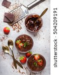 chocolate mousse with... | Shutterstock . vector #504209191