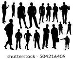 men silhouettes | Shutterstock .eps vector #504216409