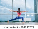 young woman doing yoga... | Shutterstock . vector #504217879