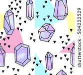 holographic crystals seamless... | Shutterstock .eps vector #504222529