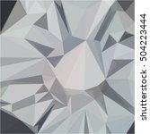 gray light geometric polygonal... | Shutterstock .eps vector #504223444