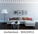 white room with sofa. living... | Shutterstock . vector #504224911
