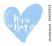 vector greeting card  baby... | Shutterstock .eps vector #504225919