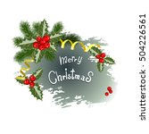 vintage christmas background... | Shutterstock .eps vector #504226561