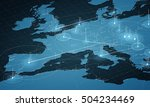 europe map big data... | Shutterstock .eps vector #504234469