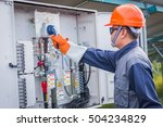 engineer working on checking... | Shutterstock . vector #504234829
