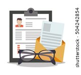 document and human resources...   Shutterstock .eps vector #504242854