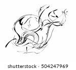 decorative wind vector smoke.