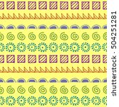 seamless raster pattern. yellow ... | Shutterstock . vector #504251281