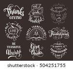 vector set of thanksgiving... | Shutterstock .eps vector #504251755