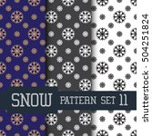snow. patterns set 11 | Shutterstock .eps vector #504251824