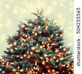 christmas tree background. | Shutterstock . vector #504255565
