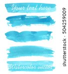 set of watercolor backgrounds.... | Shutterstock .eps vector #504259009