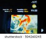 digital weather forecast... | Shutterstock . vector #504260245