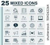 set of 25 universal editable... | Shutterstock .eps vector #504262264