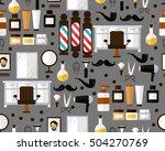 vector flat seamless texture... | Shutterstock .eps vector #504270769