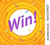 congratulations win banner.... | Shutterstock .eps vector #504270907