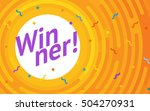 winer sign. congratulations win ... | Shutterstock .eps vector #504270931