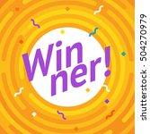 winer sign. congratulations win ... | Shutterstock .eps vector #504270979