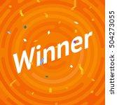 winer sign. congratulations win ... | Shutterstock .eps vector #504273055